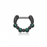 Blackline Black Opal Sparkle Septum Clicker Ring
