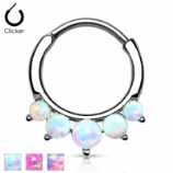 Five Opals Round Septum Clicker Ring