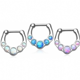 Chunky Opalescent Septum Clicker Ring