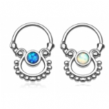 Single Hanging Opal Septum Clicker Ring