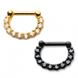 Coloured PVD Hinged Surround Septum Clicker Ring
