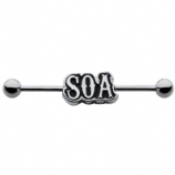 Sons of Anarchy Logo Official Licensed Scaffold Barbell