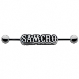 SAMCRO Logo Official Licensed Scaffold Barbell