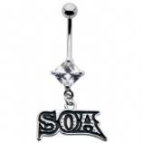 Son's of Anarchy SOA Dangle Official Belly Bar