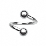 Plain Surgical Steel Piercing Spiral Ring - 1.6mm