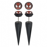Spiderman Logo Licensed Official Taper Fake Plugs (Pair)