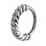Plain Twisted Huggie 1.6mm Piercing Ring
