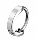 Plain Smooth Huggie 1.6mm Clicker Piercing Ring
