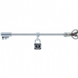 Heart Lock and Key Scaffold Barbell