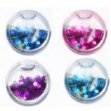 Glitter Sequin Stars Liquid Plug 8mm - 25mm