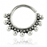 Large Bead Trim Sterling Silver Seam Ring 1mm