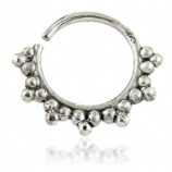Triple Bead Cluster Sterling Silver Seam Ring 1mm