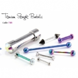 IS Titanium Straight Barbell - With Standard Balls