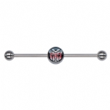 Autobots Transformers Logo Licensed Scaffold Barbell