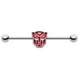 Autobots Transformers 3D Shape Logo Licensed Scaffold Barbell