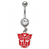 Transformers Autobots Dangle Licensed Official Belly Bar