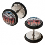 Autobots Transformers Logo Licensed Official Fake Plugs (Pair)