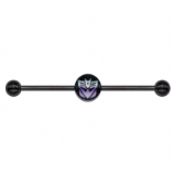 Decepticons Transformers Logo Licensed Scaffold Barbell