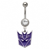 Transformers Decepticons Dangle Licensed Official Belly Bar