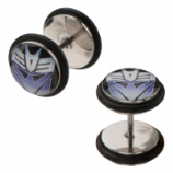 Decepticons Transformers Logo Licensed Official Fake Plugs (Pair)