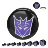 Decepticons Transformers Official Licensed Plugs 6mm - 25mm (Pair)