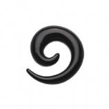 Black Acrylic Ear Hook Spiral