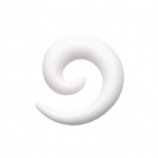 White Acrylic Ear Hook Spiral