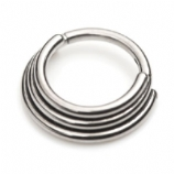Triple Banded Ring Septum Clicker Hinged Ring 1.2mm