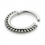 Titanium Bobble Hinged Segment Ring