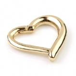 9ct Gold Heart Shaped Hinged Daith Ring Clicker
