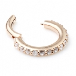 14ct Rose Gold Crystal Lined Eternity Hinged Ring Clicker