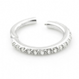 14ct White Gold Crystal Lined Eternity Hinged Ring Clicker
