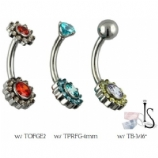 Odyssey Flower Titanium Curved Barbell - Industrial Strength