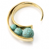 Turquoise Circular Ear Weight