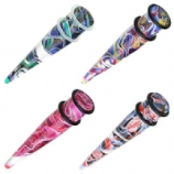 Fantasy Marble Ear Stretching Taper 2.5mm - 10mm