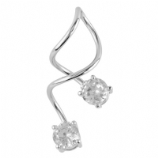 Round Crystal Mega Twister Belly Ring Spiral
