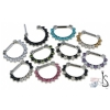 Titanium Prong Set Faceted Gem Septum Clicker #5