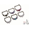 Titanium Prong Set Faceted Gem Septum Clicker #6