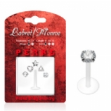Shaped Crystals Push-Fit Flexi Lip Stud 1.2mm - Value Pack - Clear