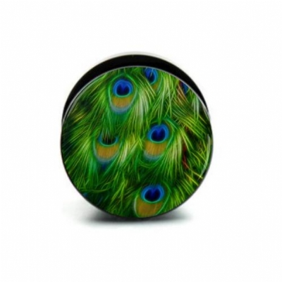Peacock Feathers Plug 6mm - 25mm