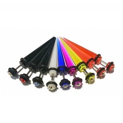 Crystal End Acrylic Fake Taper