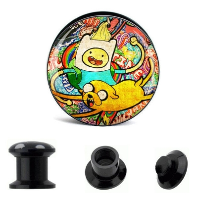 Finn & Jake Psychedelic Adventure Time Plug 6mm - 30mm