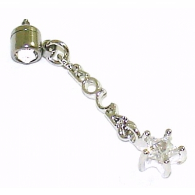 Rock Star Dangle Attachment For 1.6mm Dermal Anchor