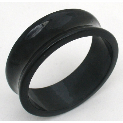 Giant Gauge Black Flared Acrylic Flesh Tunnel 26mm - 50mm - Extra Wide