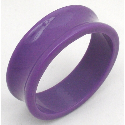 Giant Gauge Purple Flared Acrylic Flesh Tunnel 26mm - 50mm - Extra Wide