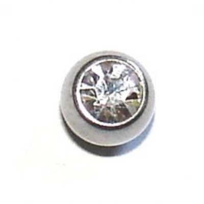 Titanium Spare Crystal Ball For 1.2mm Body Bars