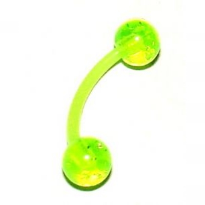 UV Flexi Acrylic Eyebrow Piercing Bar