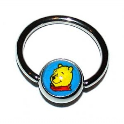 Pooh Logo Ball Closure Nipple Ring