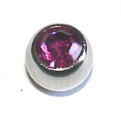 4mm Crystal Gem Ball For 1.6mm Body Bars
