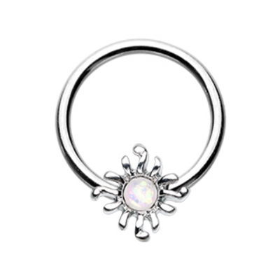 Opal Sun Ball Closure Ring